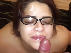 Bbw with massive tits gives tit job recieve