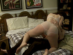 This video has some close up pussy smashing sex and a nice messy cumshot
