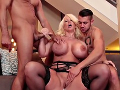 chubby milf gets facial