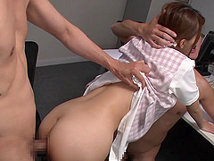 Ayumi Shinoda's hairy vagina is all nasty men want to ravish