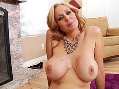 Milfs with big tits talk after giving blowjobs in a compilation
