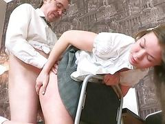 Joy for lustful teacher in order to pass the exams