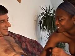 white guy exploits african girl's slit