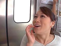 Yuu Kawakami pleases a dude with a blowjob and a handjob