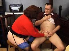 French BBW granny Olga blowjobs
