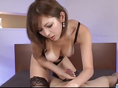 Serious POV oral scenes with superb Mai Kuroki