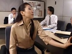 Incredible Japanese whore Kyoko Kashii in Horny Blowjob, Secretary JAV video
