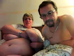 Mature with big nipples and hairy pussy on webcam