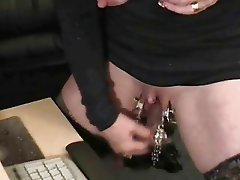 Pervert grandma with huge clit. Weird sex