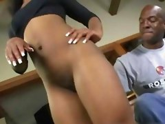 Ebony Teen Cunt Hammered