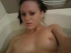 Angie in the bath
