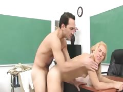 elegant angel seduces teacher