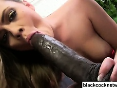 Riding a black monstercock