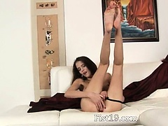 horny Silvia having snatch fisted