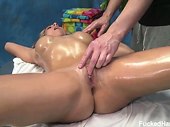 Cute 18 year old Natalie Vegas seduced and fucked hard by