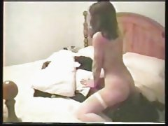 Mature white wife fucked by 2 BBC&#039;s.  Cuckold husband films.